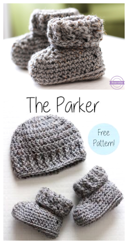 The Parker Baby Ankle Boots Free Crochet Patterns