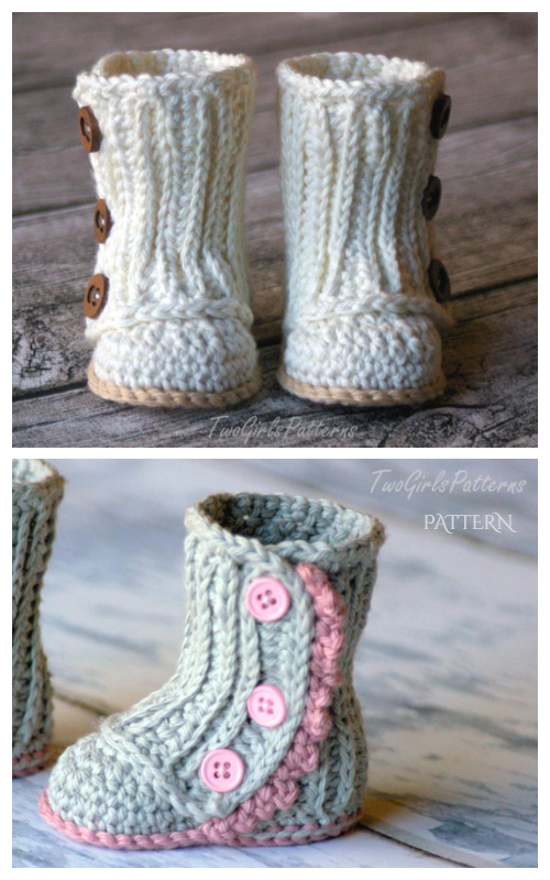 Baby Wrap Boots Crochet Patterns