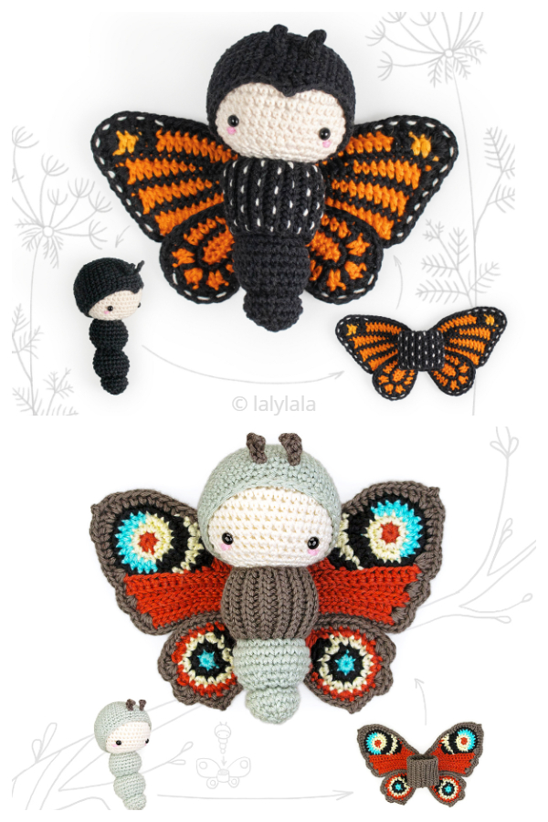 Crochet Butterfly Life Cycle Playset Amigurumi Pattern