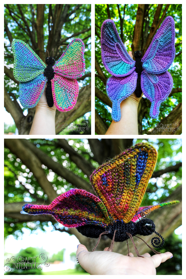 Crochet Butterfly with Four Wing Styles Amigurumi Patterns