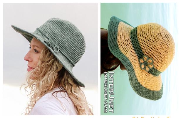 fabart Wide Brim Summer Sun Hat Free Crochet Pattern ft