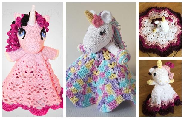 Amigurumi Nuru the Unicorn Blanket Crochet Patterns