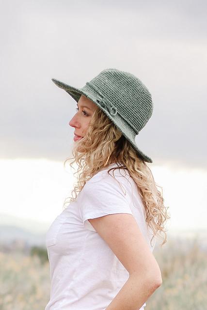 Cleo Wide Brim Fedora Hat Free Crochet Pattern