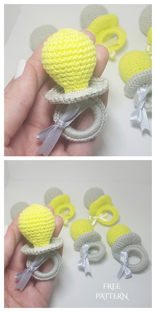Crochet Baby Pacifier Amigurumi Free Patterns