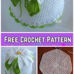 Crochet Daisy Flower Summer Sun Hat Free Crochet Pattern-Video