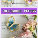 Crochet 3D Embroidery Butterfly Free Crochet Pattern