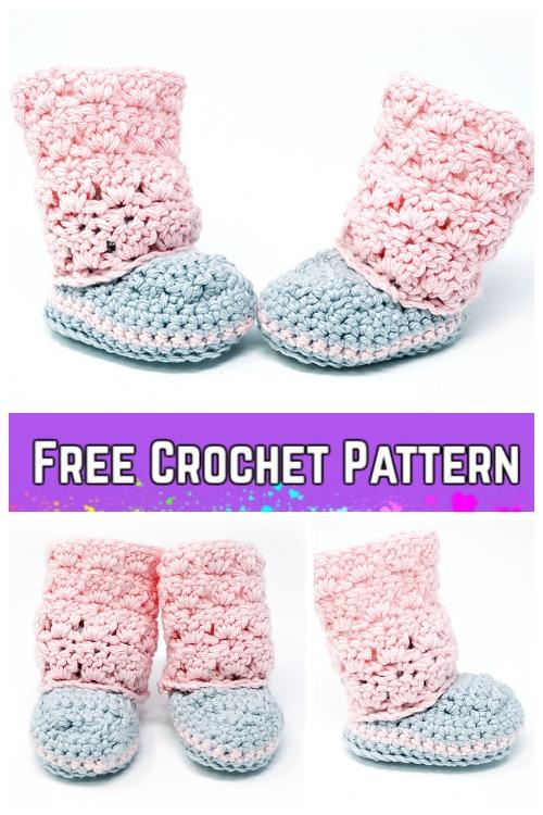 Crochet Primrose Baby Boots Free Crochet Pattern