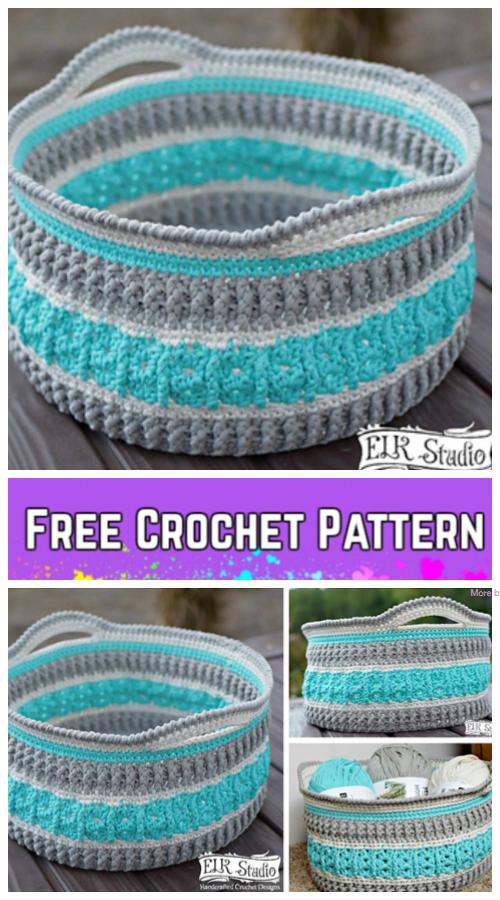 Crochet Sea Glass Basket Free Crochet Pattern