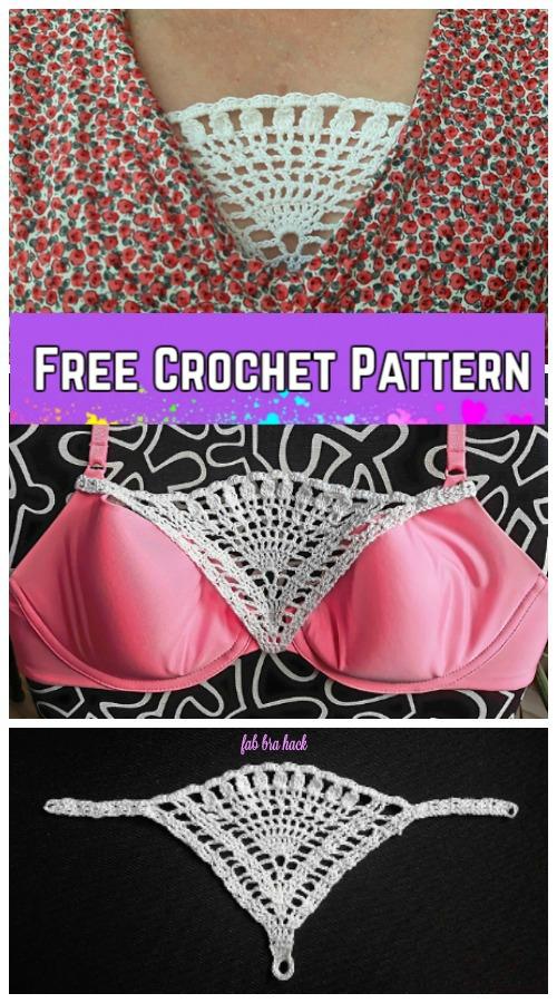 Crochet Triangle Lace Modesty Panel Free Crochet Pattern