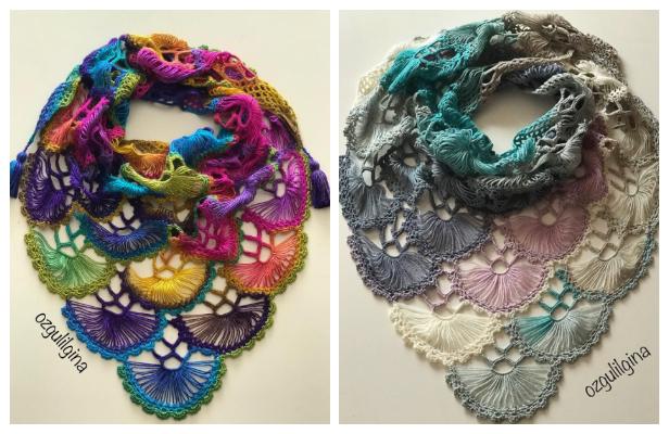 Fan Shawl Free Crochet Pattern + Video Tutorial