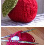 Knit Apple Plushie Free Knitting Pattern