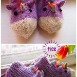 Knit Baby Unicorn Socks Slippers Free Knitting Pattern