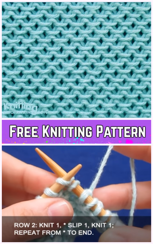 Knit Chinese Wave Stitch Free Knitting Pattern