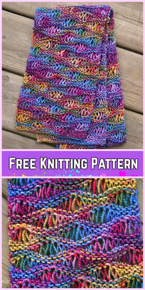 Knit Drop Stitch Free Knitting Pattern