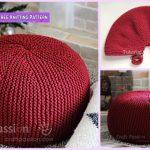 Garter Stitch Knit Pouf Free Knitting Pattern
