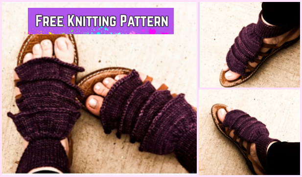 Knit Sublime Sandals Free Knitting Pattern for Ladies Summer Footwear