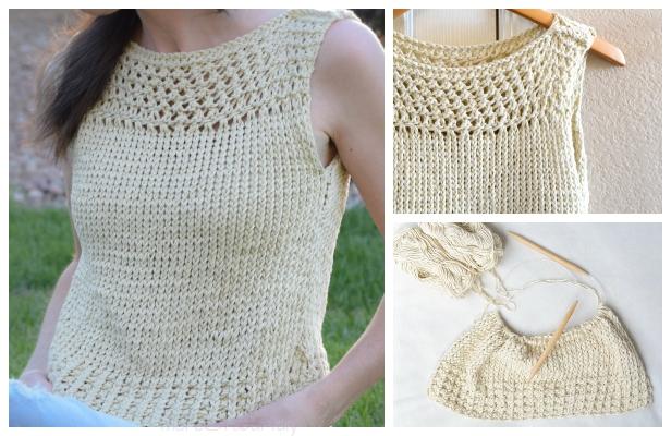 Knit Summer Vacation Top Free Knitting Pattern