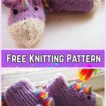 Knit Unicorn Socks Slippers Free Knitting Pattern