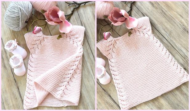 Knit Lil' Rosebud Seamless Top Down Dress Knitting Pattern