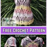 Crochet Stunning Pineapple Top Free Crochet Pattern For Ladies