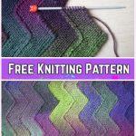Garter Stitch Knit Ten Stitch Zigzag Blanket Free Knitting Pattern
