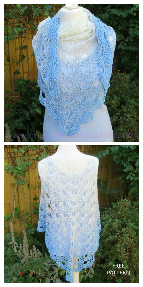 Virus Shawl Free Crochet Pattern + Video