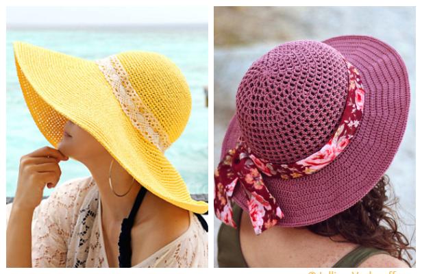 Crochet Summer Sun Hat Free Crochet Pattern + Video