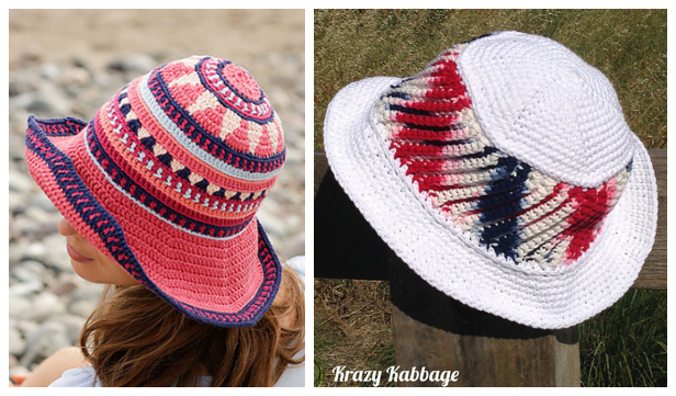Summer Bazaar Sun Hat Free Crochet Patterns