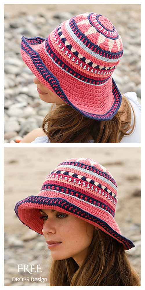 Summer Bazaar Sun Hat Free Crochet Patterns