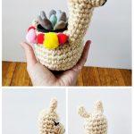 Mini llama Planter Crochet Pattern