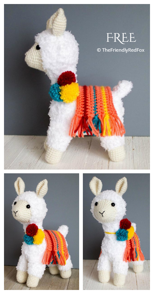 Crochet The Friendly Llama Softies Amigurumi Free Pattern