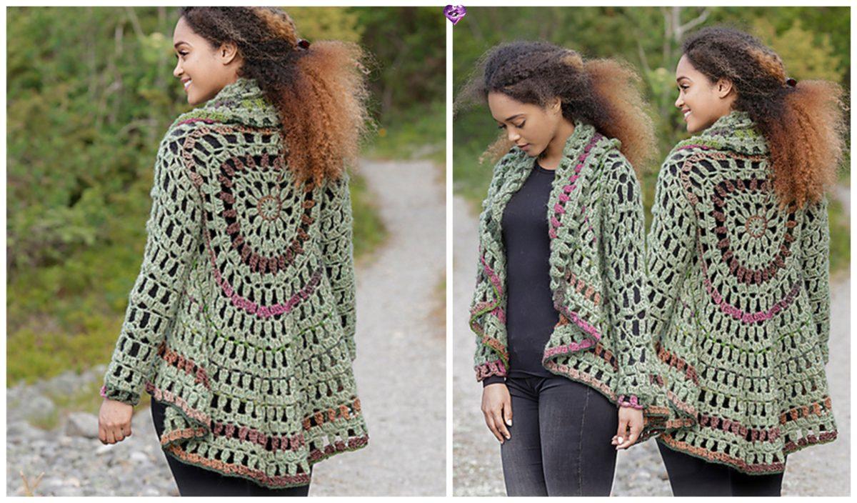 Crochet Forest Cycle Jacket Free Crochet Pattern