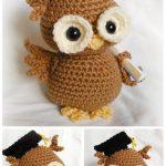 CrochetNewton the Graduation Owl Amigurumi Paid Pattern