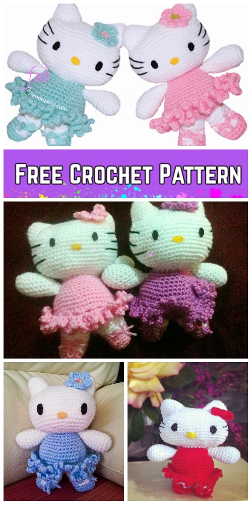 Crochet Hello Kitty Amigurumi Free Patterns Toy Plush For Kids