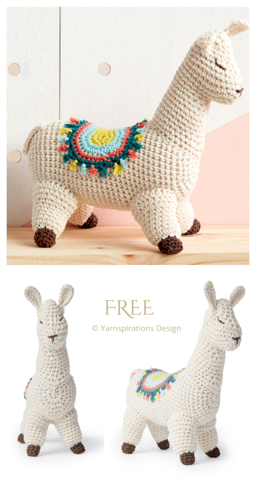 Crochet Lluna the Llama Amigurumi Free Patterns