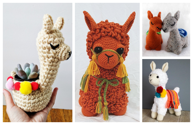 Crochet Llama Toy Plush Amigurumi Free Patterns & Paid