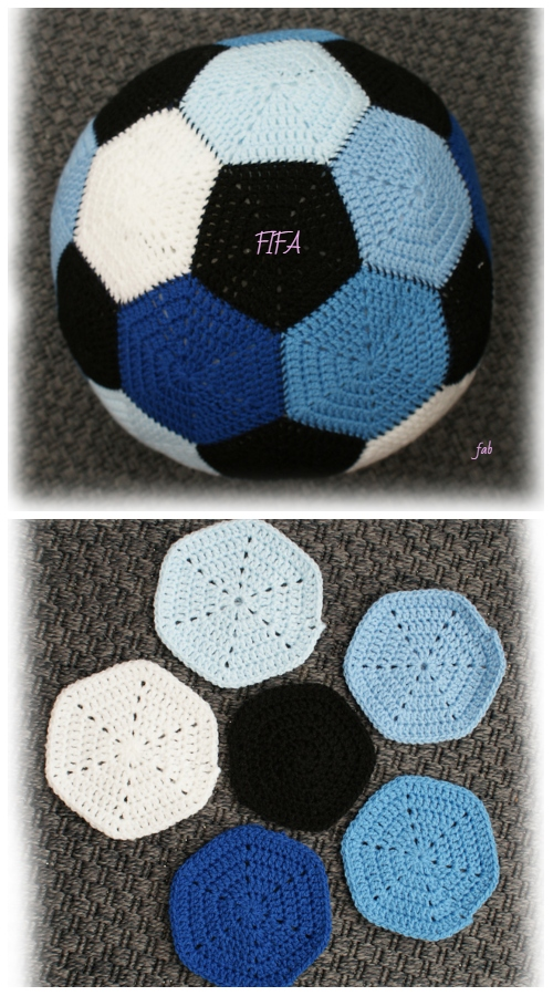 Crochet Soccer Ball Crochet Pattern