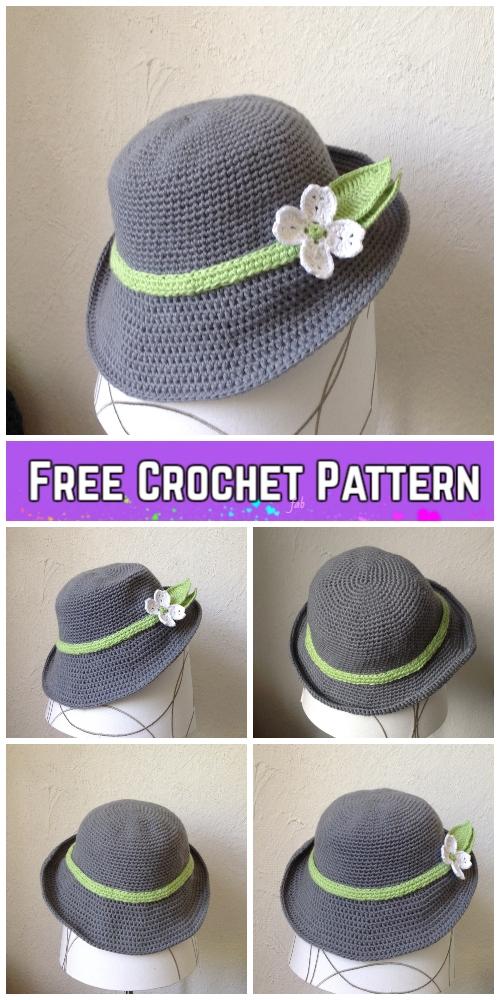 Spring Hat Crochet Free Pattern