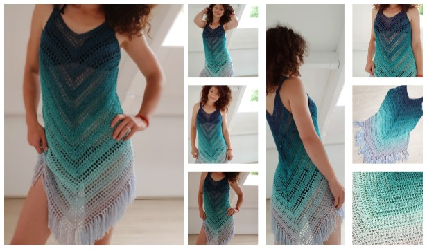 Easy Summer Sea Breeze Cover Up Crochet Free Pattern
