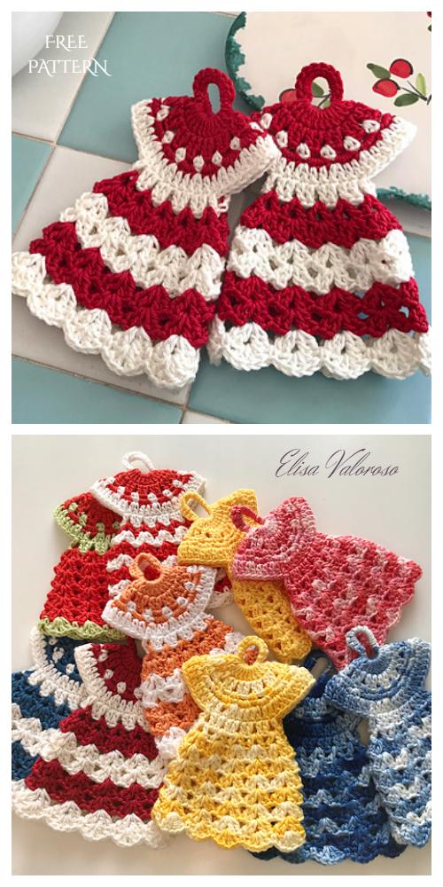 Vintage Dress Potholder Crochet Free Patterns