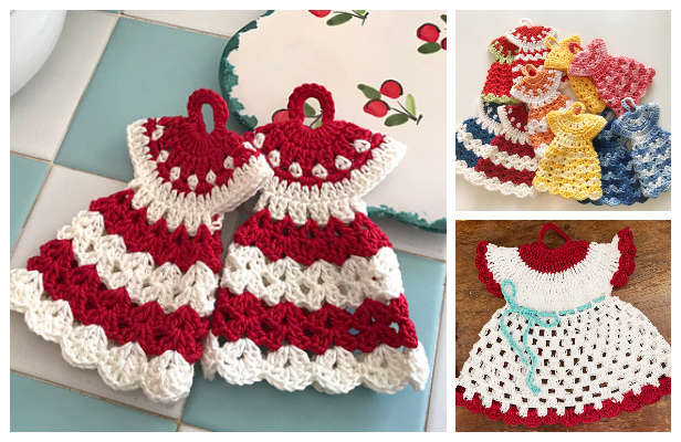 Vintage Dress Potholder Crochet Free Pattern Video