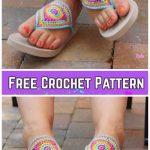 Crochet Adult Bloom Flip Flop Sandals Crochet Free Pattern