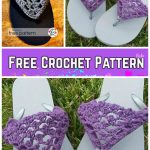 Crochet Adult Peekaboo Picot Sandals Crochet Free Pattern
