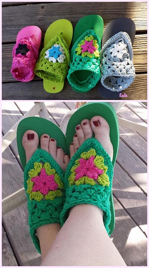 AdultFancy FreeFlip Flop Sandals Crochet Pattern