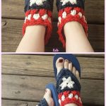 Adult Fancy Free Flip Flop Sandals Crochet Pattern