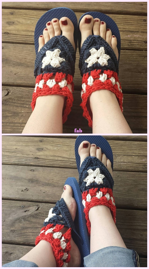 ebc517b6225dc0 Click the link below for the pattern  Fancy Free Flip Flops by Hillary  Thompson
