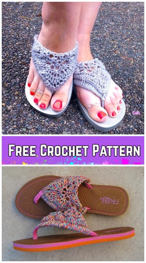 Crochet Adult Flip Flop Sandals Crochet Free Pattern