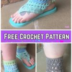 Adult Tranquil Triangle Flip Flop Sandals Crochet Pattern