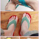 AdultGladiator Flip Flop Sandals Crochet Pattern