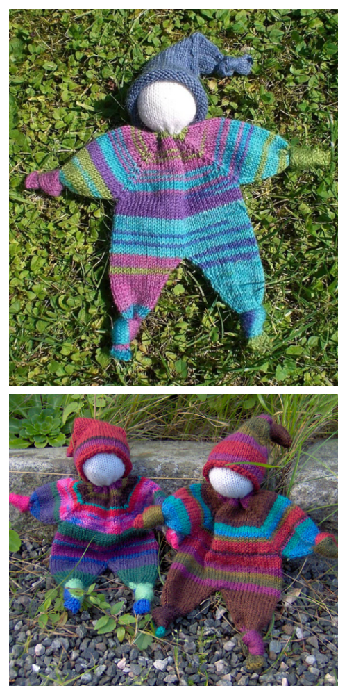Knit Amigurumi Doll Lovey Blanket Free Knitting Pattern